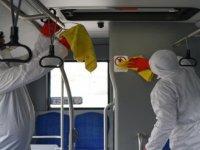 Ulaşım A.Ş. toplu taşıma araçlarına 100 bin kez dezenfekte yaptı