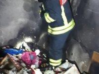Develi Hasan şahan'da yangın