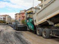 Talas Rüzgarlı caddesinde komple bakım yapılıyor
