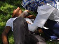 Kayseri'de bıçakla yaralanan genç,yardıma gelen hemşireden sigara istedi
