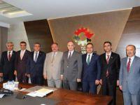 Kayseri OSB yönetimi, Bilim Sanayi Ve Teknoloji Bakanı Faruk Özlü'yü ziyaret etti
