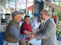 Başkan Şinasi Gülcüoğlu esnafları ziyaret etti