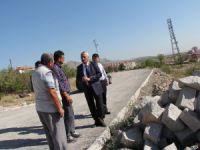 Karayol, yapımı devam eden seyir terasını inceledi