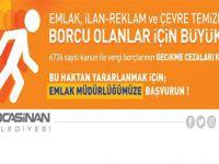Kocasinan Belediyesi: borcu olanlar için büyük fırsat