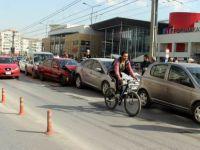 Kayseri Trafik kazası 6 araç birbirine girdi