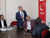 Başkan Öztürk Saadet Partisine belediye çalışmalarını anlattı