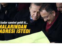 Erdoğan Kayseri'de pankart açan genç kızın evini ziyaret etti