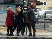 Kayseri'de Kadın kadına şiddet saç baş yoldular