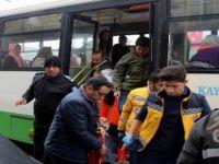 Otobüste rahatsızlanan şahıs hastaneye kaldırıldı