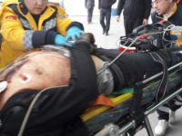 Kayseri OSB'de iş Kazası vinç arasında kaldı 1 Yaralı