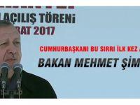 Cumhurbaşkanı Erdoğan, o sırrı ilk kez açıkladı