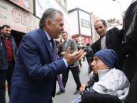 Başkan Büyükkılıç, Camikebir Mahallesi'nde esnafları ziyaret etti