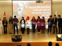 Talas'ta İstiklal Marşı Güzel Okuma Yarışması