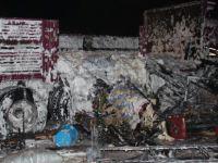 Fevziçakmak'ta Ev eşyası yüklü kamyon alev alev yandı