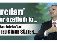 Cumhurbaşkanı Erdoğan hayırcı takımı Çanakkale Köprüsü'ne 'Hayır' diyemediler