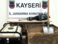 Kocasinan'da Kaçak kazı yapan 6 kişi yakalandı