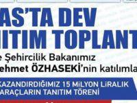 Talas'ta Dev toplantı