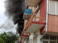 Yenimahalle'de sorunları olduğu iddia edilen bir kişi daireyi ateşe verdi