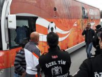 Kayseri'de Adanaspor otobüsüne saldırı