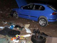 Talas'ta Otomobil bahçeye düştü: 3 yaralı