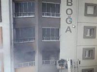 Keykubat'ta Binada çıkan yangın korku dolu anların yaşanmasına neden oldu