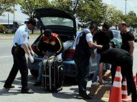 Kayseri'de 4 ayrı noktada araçlar didik didik arandı