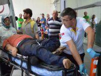 Karpuzatan'da Çatıdan düşen işçi yaralandı