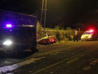 Hacılar'da Otomobil şarampole düştü: 6 yaralı