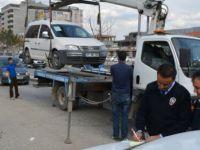 Kayseri'de Bin 57 araç trafikten  men edildi