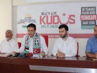 Kayseri Saadet Partisinden 'Büyük Kudüs Mitingi'ne çağrı