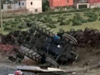 İncesu'da Otomobil traktöre çarptı: 1 ölü, 2 yaralı