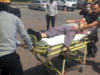 Organize'de Kolunu makineye kaptıran işçi yaralandı