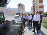 Talas'ta asfalt çalışmalarında yoğun mesai