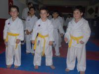 Kayseri'de Tek yumurta üçüzleri 6 ay önce başladıkları karatede ilk madalyalarını aldı