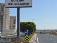 Alpaslan Türkeş Bulvarında asfaltlama çalışması