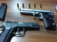 Kayseri'de 2 adet ruhsatsız tabanca ele geçirildi