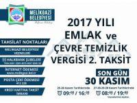 Melikgazi Belediyesi 2017 Emlak vergileri:
