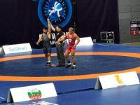 Kayseri Şeker Sporlu milli güreşçi Dünya Güreş Şampiyonasında ilk galibiyetini aldı
