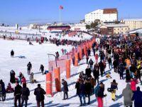 Erciyes'teki yoğunluk, havadan görüntülendi