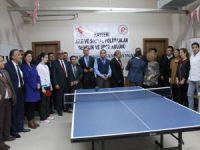 Kayseri Aile ve Sosyal Politikalar İl Müdürlüğünde Masa Tenisi Turnuvası başladı
