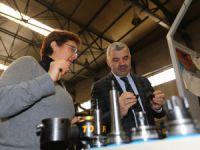 Gözüküçük, Başkan Çelik'e üretimleri ile ilgili bilgi verdi