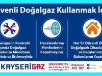 Kayserigaz'dan, güvenli doğalgaz kullanım uyarıları