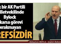 Bakan Soylu AK Parti'de ByLock'çu vekil bulun istifa etmeyen şerefsizdir