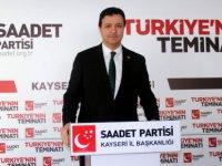 """Arıkan: """"Saadet Partisi kendi Cumhurbaşkanı adayını çıkaracak"""""""