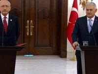 Başbakan Yıldırım, Çankaya'da Kılıçdaroğlu ile bir araya geldi