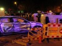 Kayseri'de ambulans devrildi: 5 yaralı