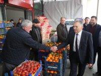 Büykkılıç, Meyve ve Sebzeciler Komisyoncular Derneğini ziyaret etti