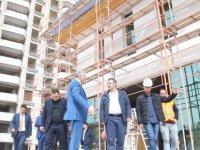 Çelik, Talas Sosyal Yaşam Merkezi inşaatında incelemelerde bulundu