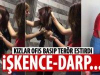 20'li yaşlardaki 3,kız arkadaşlarının iş yerini basıp dövdüler-video