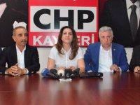 CHP KAYSERİ İL BAŞKANI ÖZER BASIN AÇIKLAMASI YAPTI